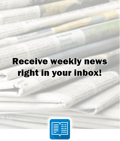 Receive weekly news right in your inbox
